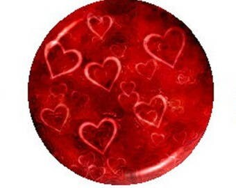 25mm heart cabochon