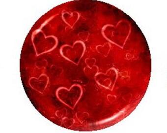 25mm heart cabochon