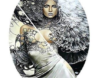 beautiful goddess, fairy, strength, energy, 20x30mm