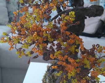 10 Beaded bonsai tree handmade gift, home decor