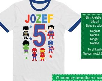 Avengers Birthday Shirt/Avengers Shirt/Avengers Party/Avengers/Avengers Birthday/Avengers Stuckers/Supeheroes/Superheroes Birthday Shirt