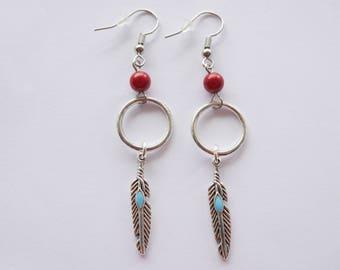 Cheyenne feathers earrings