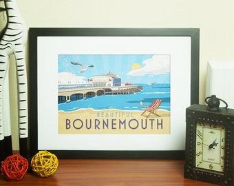 Dorset Artwork Print - Beautiful Bournemouth - by Jo Parry
