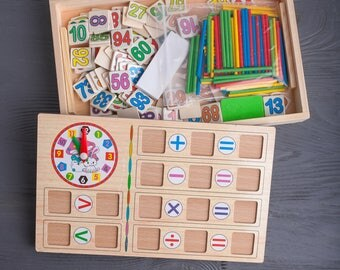 Educational Toy, Preschool Counting Activity for Children, School Educational Toy, Learning Toy