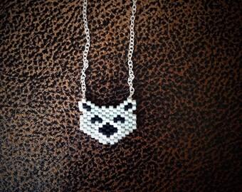 Silver bear necklace