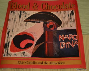 Elvis Costello and the Attractions Blood and Chocolate Promo Poster