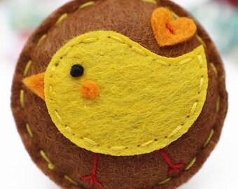 Tweety Bird Handmade Wool Felt Brooch