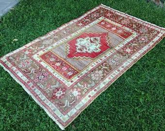 Turkish rug, Vintage rug, Handmade rug, Muted rug, Area rug, Wool rug, Bohemian rug, Rug //FREE SHİPPİNG!! 174 cm x 114 cm = 5,6 ft x 3,7 ft