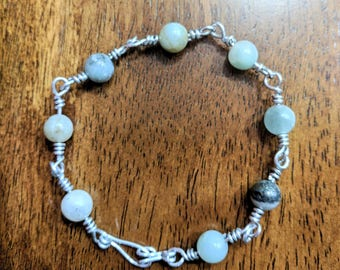 Bohemian wire bracelet, hand made with love