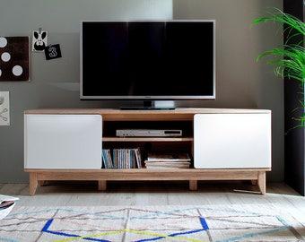 Corner tv stand | Etsy