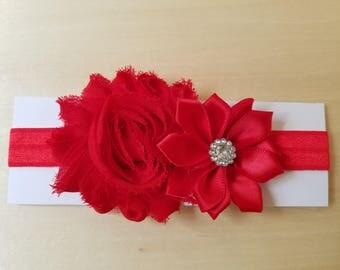 Red elastic headband