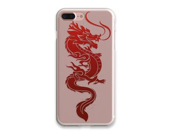 iPhone 6 Case Dragon iPhone 7 Case iPhone 7 Plus Case Transparent iPhone 6 Plus Case Clear With Design Birthday Gift Clear iPhone SE Cases