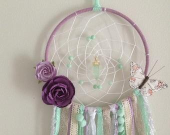 """Girly dreamcatcher (7"""" hoop)"""
