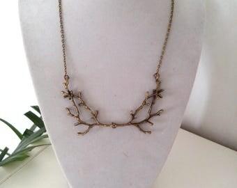 bronze branch necklace