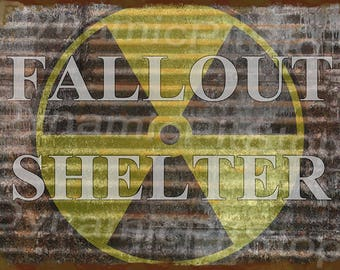 40x30cm Fallout Rustic Tin Sign