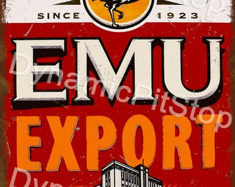 30x40cm Emu Export Rustic Tin Sign