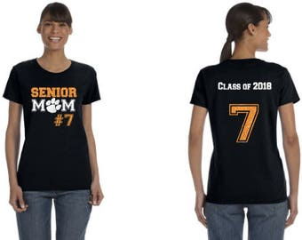 Senior Mom Shirt With Name Personalization