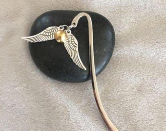 Golden Snitch Bookmark Book Lover Snitch Quidditch Potterhead Bookworm Gift Wizard Hogwarts Journal Planner Marker Fandom Snitch