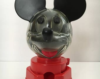 Vintage Mickey Mouse Gumball Dispenser Bank Walt Disney Productions 1968
