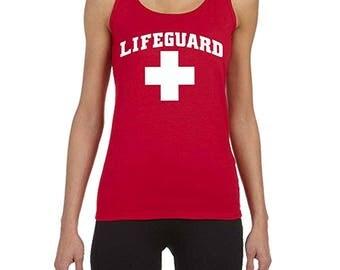 Lifeguard Women's Red Tank Top