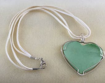 Green heart shaped stone