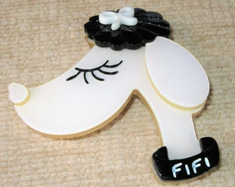 Fifi Dog brooch