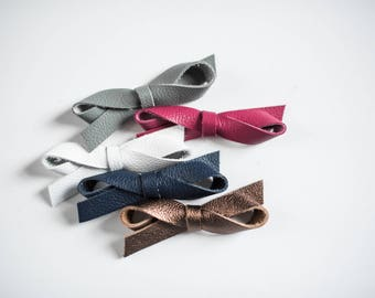 5 COLORS | Leather Infinity Bow