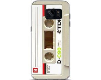 Samsung Case, Phone Case, Galaxy, S7, S7 Edge, S8, S8+, Funny case, Cassette