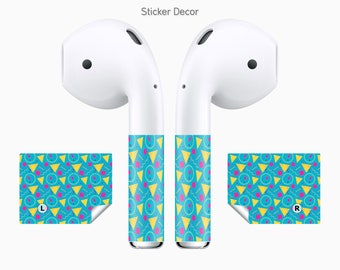 AirPods Stickers Retro, 2-Sets, Wraps, Skin, Cover, Decal