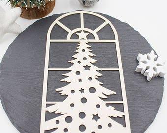 Embellishment window Christmas Scrapbooking, home decor