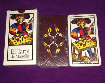 The Tarot of Marseille EDAF 78 letters I wicca I witches i Pagan I tarot i clairvoyance i