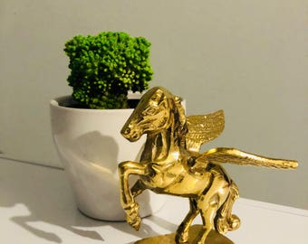 Vintage Brass Pegasus Collectible Figurine