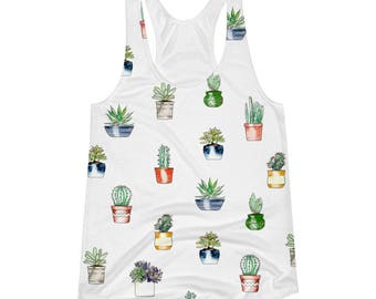 Potted Cacti -Women's Racerback Tank
