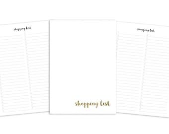 A5 Shopping List Printable Insert - Plain Cover - TN & Ring Planner