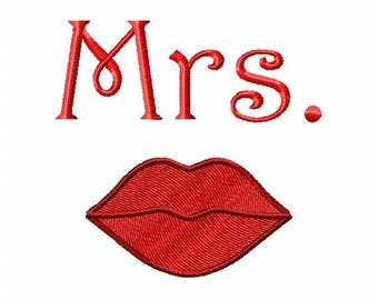 Program for machine embroidery design embroidery Lady lips (file)