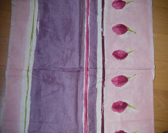 Pink purple white cotton - great coupon brand linen - 70 x 119 cm