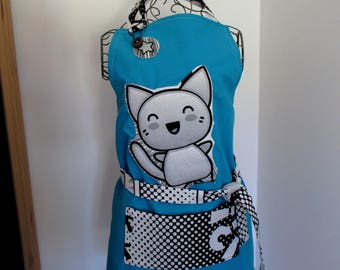 """4 - 6 + / 6 - 8 + years old: apron bib """"Manga"""", for the kitchen or other activity"""