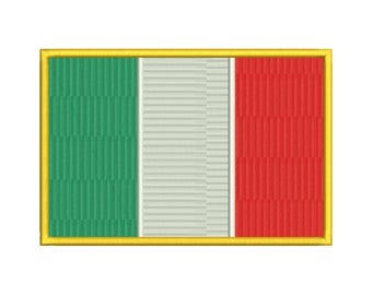 Italy Flag Embroidery Design - 6 SIZES