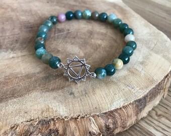 Bracelet natural stones and solar plexus chakra