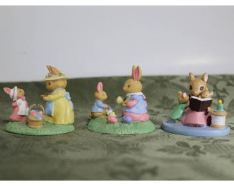 Lot of 3 Vintage Avon Gift Collection Mini Forest Friends - Sunday Best, Easter Fun, Storytime