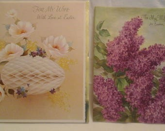 Vintage  Easter to Wife greeting  cards