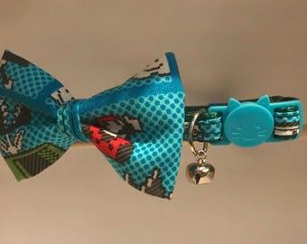 """Super Mario Cat Collar with Bow Tie - """"Super Mario"""" - Breakaway Cat Collar / Kitten Collar / Dog Bow Tie"""