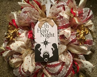 Oh Holy Night Christmas Wreath