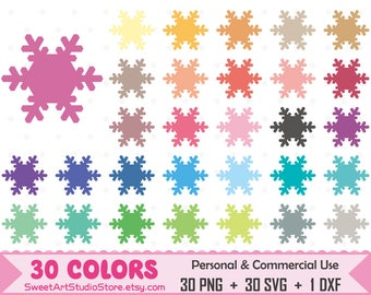 Winter Clipart, Snowflake planner SVG Silhouette Cricut Cut File Commercial Use (Png Svg Dxf)