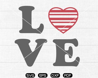 LOEV SVG, Heart Clipart, Valentine's Day cricut, silhouette cut files commercial use