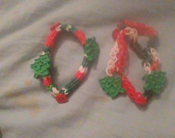 """Woven 7"""" bracelets for Christmas"""