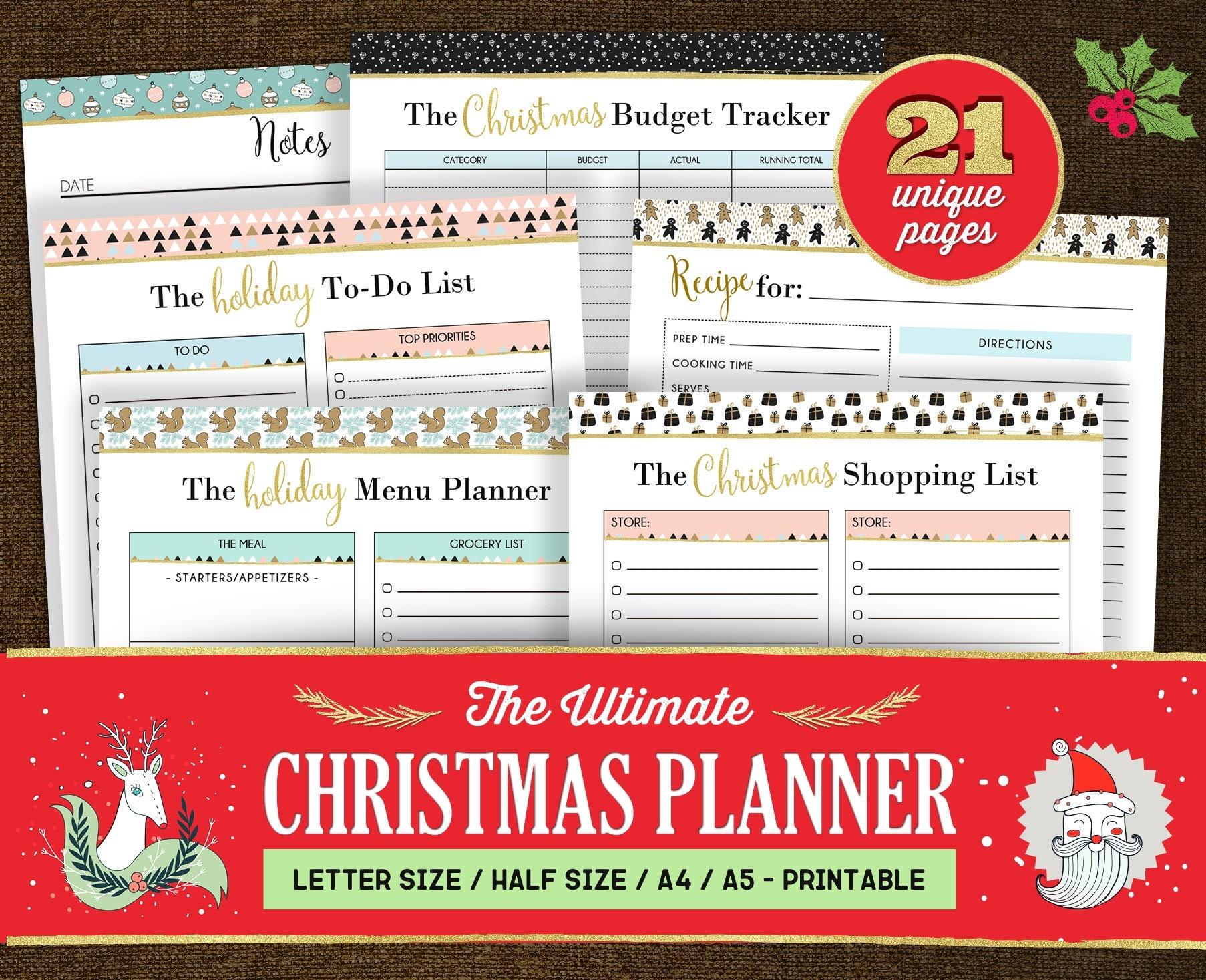 Christmas Planner Kit Christmas Planner Printable Christmas
