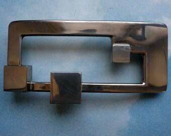 60 chrome belt buckle