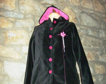 """Dragonia"" fuchsia velvet jacket"