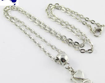 I Love Netball Charm Necklace 45cm Coach Sports Team End Of Season Gift